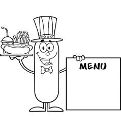 Patriotic Sausage Cartoon vector