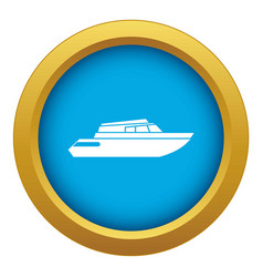 Planing powerboat icon blue isolated vector