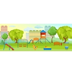Playground At The Park Composition vector image