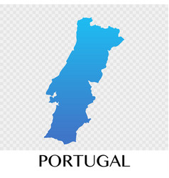 potugal map in europe continent design vector image