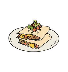 quesadilla mexican vector image