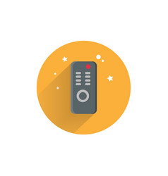 Remote colorful flat icon with long shadow tv vector