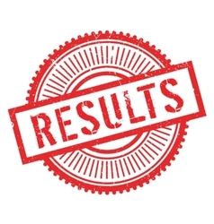 Results stamp rubber grunge vector