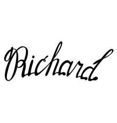 richard name lettering vector image