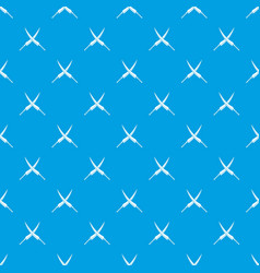 Samurai swords pattern seamless blue vector