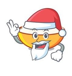 Santa cottage cheese mascot cartoon vector