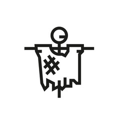 scarecrow icon on white background vector image