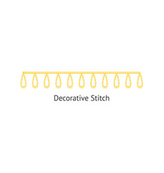 Sewing or embroidery decorative stitch seamless vector
