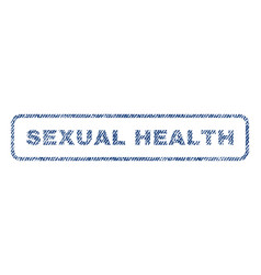 Sexual health textile stamp vector