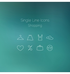 Shopping icons set drawn with single line vector