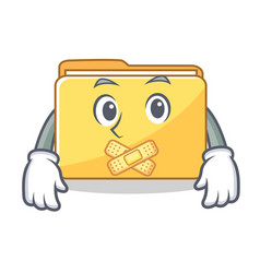 silent folder character cartoon style vector image