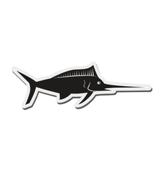 single swordfish icon vector image