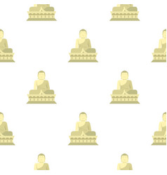 Sitting buddha south korea pattern seamless vector