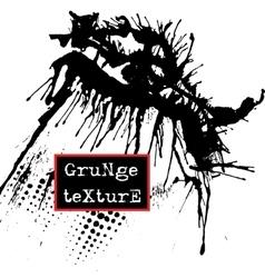 Splatter Paint Texture Grunge background Black vector image