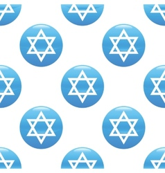 Star of David sign pattern vector image