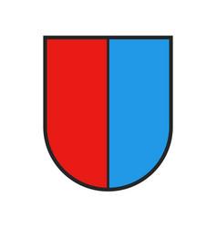 Switzerland canton flag swiss state ticino shield vector