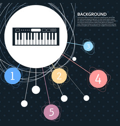 synthesizer icon with the background to the point vector image