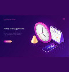 time management isometric business concept vector image
