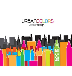 Urban colors vector image