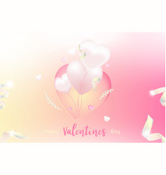valentine day greeting card template celebration vector image