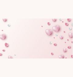 Valentines day banner design vector