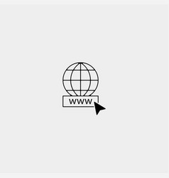Website or internet line art icon for apps vector