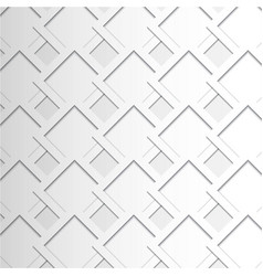 white geometric texture background vector image