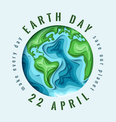 World earth day concept vector
