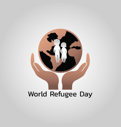 world refugee day vector image