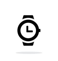 Wristwatch icon on white background vector image