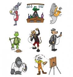 animal professions vector image