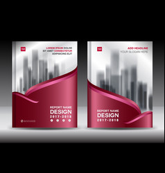 brochure template layout red cover design vector image vector image