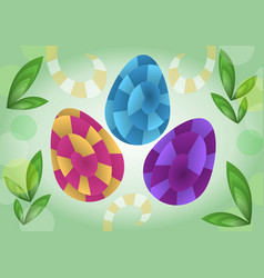 easter decoration in optical art style colored vector image vector image