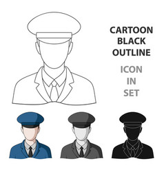postmanmail and postman single icon in cartoon vector image vector image