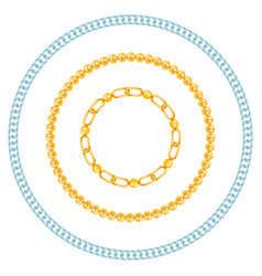 chains link strength connection borders of vector image