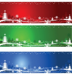 Christmas tree backgrounds vector image vector image