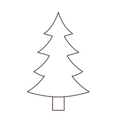 christmas tree with trunk silhouette on white vector image vector image