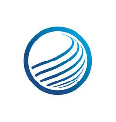 circle technology logo image vector image