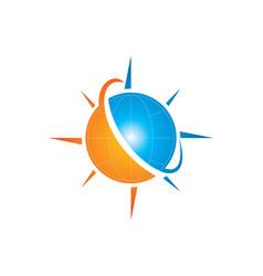 globe planet arrow logo vector image vector image