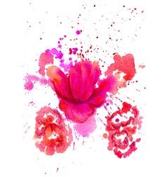 Watercolor Flower2 vector image
