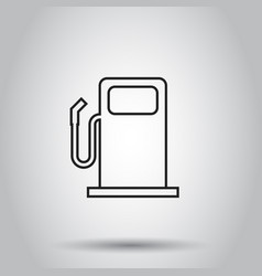 fuel gas station icon in line style on isolated vector image