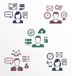 Icons of different employee with their specializat vector image vector image