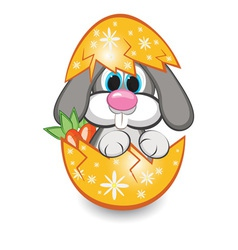 rabbit in the egg vector image vector image