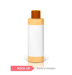 small bottle of shampoo vector image vector image