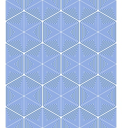 Stars and hexagons pattern vector image vector image