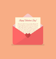 happy valentines day letter vector image