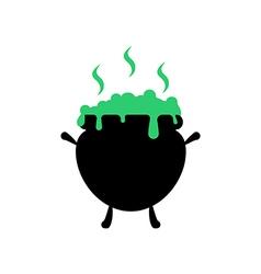 Witch cauldron vector image