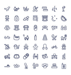 49 baby icons vector