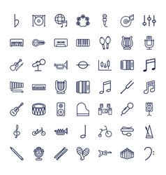 49 musical icons vector