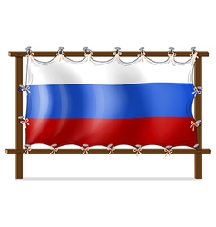 A frame with the flag of Russia vector image